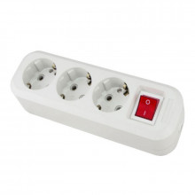 IN HOME Колодка 3GS-SMART трехместная с выключателем 16А с заземлением 5430