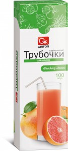 GRIFON трубочки гофрированные для напитков 100 шт/карт. кор., 21 см