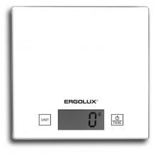 Весы кухонные электронные ERGOLUX ELX-SK01-С01 белые (до 5 кг, 150*150 мм)