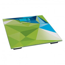 Весы напольные электронные ERGOLUX ELX-SB03-C34 абстракция зелено-синяя (до 180 кг, LED подсветка)