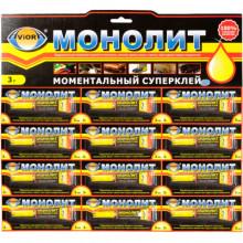 Монолит 403 001 клей 3гр. на листе 12шт.(12/288)