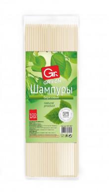 GRIFON шампуры деревянные, 300 мм в упаковке, 100 штук /100/1