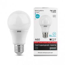 Лампа Gauss LED A60 E27 7W 4100K акция