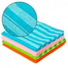 Салфетка из микрофибры VETTA (в уп.4 шт.) 30x30см, 220г/кв.м., 4 цвета