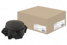 TDM коробка электромонтажная КЭМ 1-10-3Б ОП D78 мм IP44, 3-х рожк. (карболит)