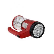 Фонарь ultra Flash Led5162 (акк,9+5 Smdled) красный