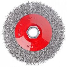 Щетка металл. ЕРМАК для УШМ 100мм/М14 (тарелка)