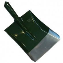 Лопата совковая  зеленая (рельсовая сталь), Броня, вес 910 гр.