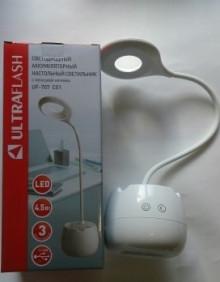 Светильник- ночник Ultraflash UF-707 С01 (наст. с пеналом,4,5 Вт.аккум.сенсорн.вкл, димм. от USB)