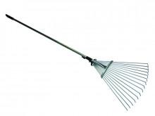 Грабли веерные раздвижные проволочные с металлической ручкой