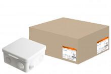 TDM распаячная коробка ОП 100х100х55мм, крышка, IP54, 8вх.