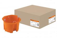 TDM установочная коробка СП D65х45мм, саморезы, оранжевая, IP20,