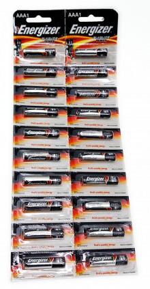 Батарейка ENERGIZER LR03 Alkaline Power Family BL-20 (отрывной)