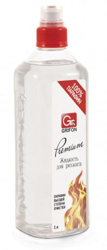 GRIFON  Premium Жидкость для розжига, жидкий парафин, 1000 мл.