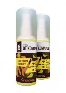 Спрей от комаров и клещей КОСМОС 100мл. (без запаха)