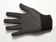 Перчатки нейлоновые (черные с серым ПВХ)