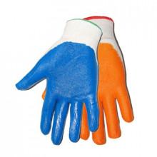 Перчатки нейлоновые с нитриловым обливом цвет MIX без ярлыка