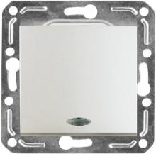 Выключатель Volsten одноклавишный с индикатором (argento), механизм,violet
