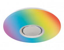 Светильник AMBRELLA FF200 WH/CH белый/хром 48W D395*80 c подсветкой RGB (ПДУ ИК)