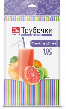 GRIFON Трубочки для напитков, 100 шт. в п/эт.уп., 21 см