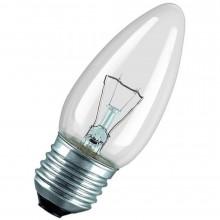 Лампа свеча 40w E27 220v, прозрачная