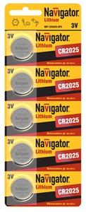 Батарейка NAVIGATOR 94 764 NBT-CR2025-BP5