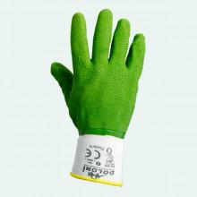 Перчатки DOLONI нейлон, покрытые зел. вспен.латекс