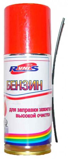 Бензин для зажигалок RUNIS выс.оч. 140мл. аэроз.