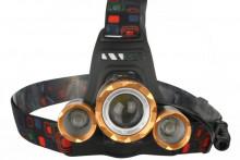 Фонарь ultra Flash E1333 (налобный,led,аккум 3,7в,3led, 4 Ватт, фокус, 2 укку., 4 режима)