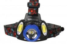 Фонарь ultra Flash E1334 (налобный,led,аккум 3,7в,3led, 4 Ватт, фокус, 2 укку., 4 режима)