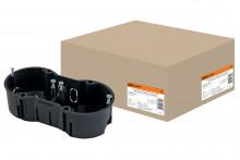 TDM установочная коробка СП 2-х местная, 141х70х45мм, саморезы, IP20,