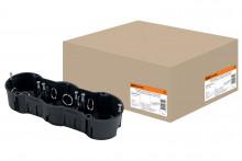 TDM установочная коробка СП 3-х местная, 212х70х45мм, саморезы, IP20,