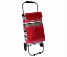 Кошкин дом Сумка-тележка водостойкая морозоустойчивая, нагрузка 30 кг, колеса Пвх 13,5 см, полоски