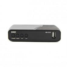 Ресивер эфирный цифровой Dvb-t2 Hd Hd-215 пластик, дисплей Dolby Digital, Эфир