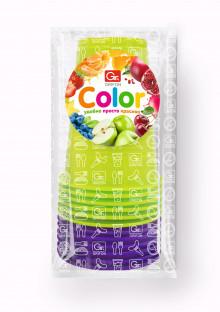 GRIFON Набор стаканов одноразовых цветных , 200 мл, 10 шт. в п/п упаковке