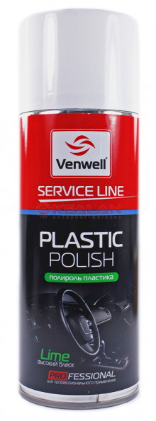 Venwell lime полироль пластика, высокий блеск, 400 мл.