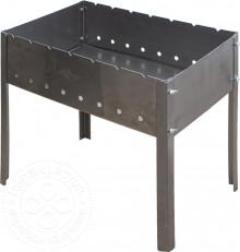 Мангал 500х300х140 с барашками (без шампуров) в коробке (1,2мм) М-37
