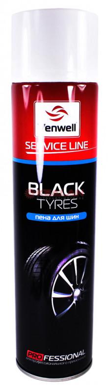 Venwell Black Tyres чернитель шин пенный блеск, 800 мл
